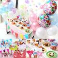 생일 파티용품 테이블 소품 풍선 도일리 냅킨 커버