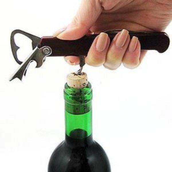 와인오프너-스크류방식-병따개-캔따개-와인랙-스토퍼-호일커터-코르크-나이프-만능-맥가이버-와인따개 상품이미지
