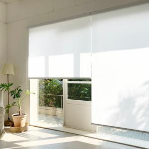 [창안애]롤스크린 블라인드 무지 커튼 거실 창문 베란다