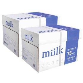 밀크 A4 복사용지(A4용지) 75g 2000매 2BOX/더블에이