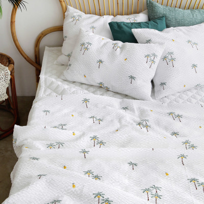(1+1) Summer blanket set pad bedding set/seersucker