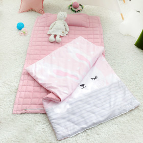 [COTTON BEDDING] All-in-one bedding set / pillow attached blanket / for kids / quilted /