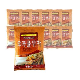 대호 오곡율무차 1kg x 12개/자판기 용 천마차 홍차