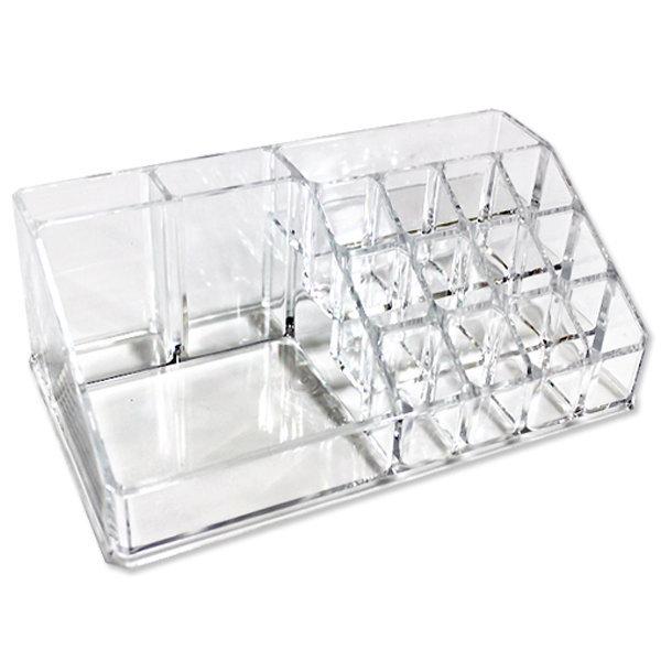 화장품 정리대C 정리함 메이크업 박스 미니 좌식 투명 상품이미지