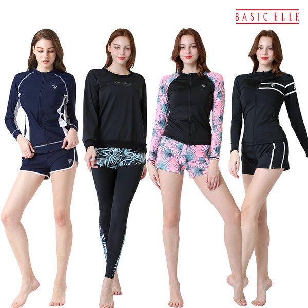 신상품 입고 여성용 래쉬가드 세트 워터레깅스 수영 상품이미지