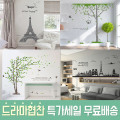 특가 포인트스티커 시트지벽지 창문 DIY인테리어 그림