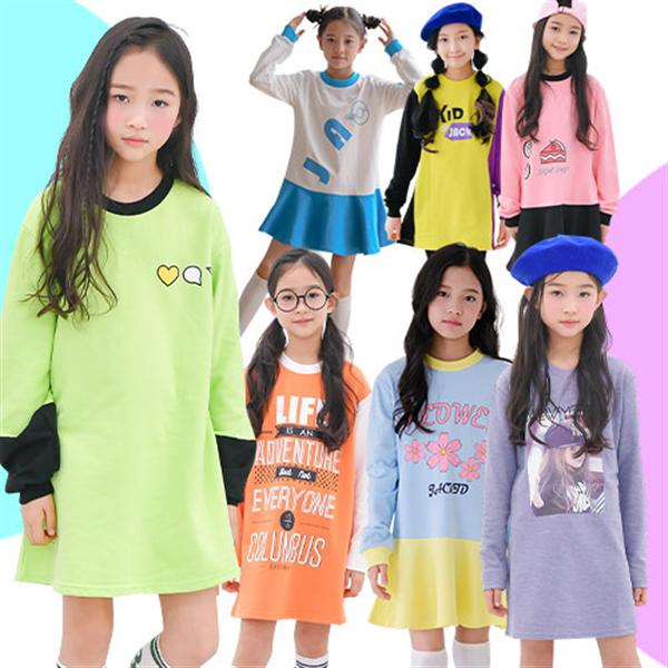 주니어 초등학생 여아 가을 원피스 초등학생 옷 의류 상품이미지