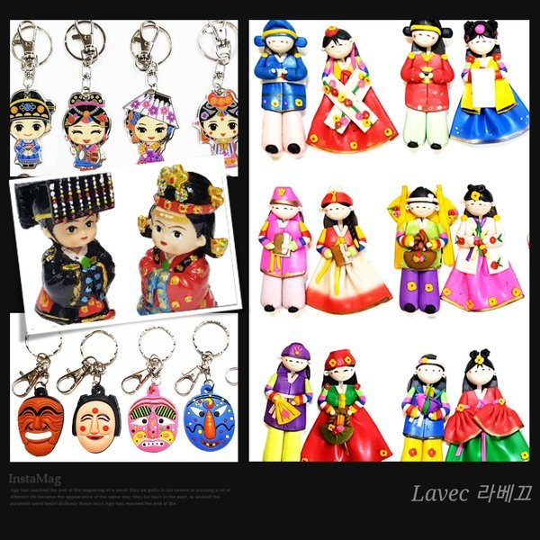 커플냉장고자석 10쌍/한국전통답례품외국인선물공예품 상품이미지