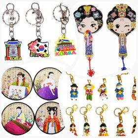 Souvenirs collection / characters in Hanbok / Buk / Janggu / key chain / refrigerator magnet /