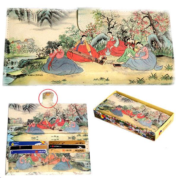 한국 전통 후렌치 지갑(중)/한국관광기념품외국인선물 상품이미지