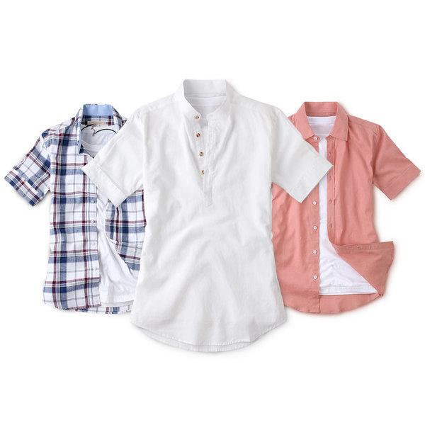 봄신상 기본핏 오버핏 남성 남자 와이셔츠 셔츠 남방 상품이미지