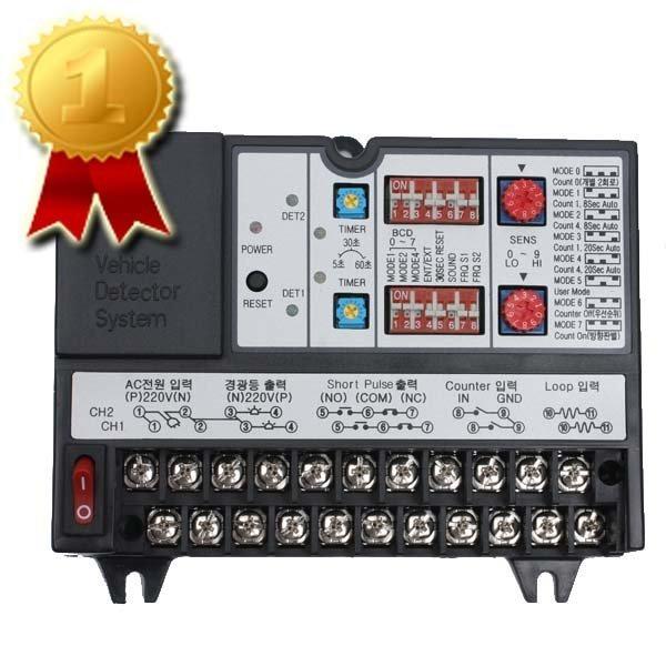 2채널 차량검지기/디텍터/VDS/DET-200/02-825-6587 상품이미지