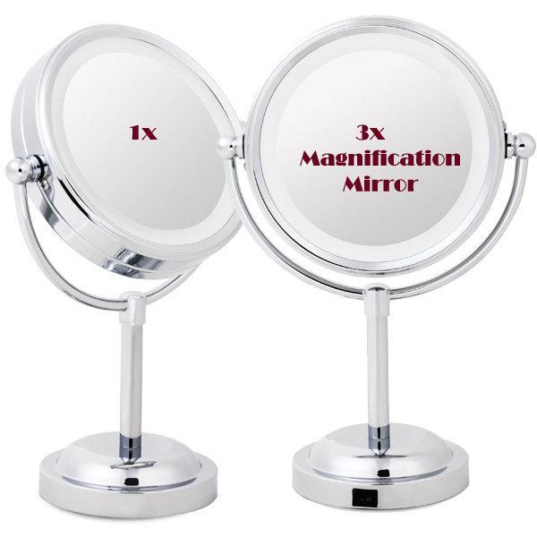 LED라이트 확대경 화장양면탁상확대거울/여친엄마선물 상품이미지
