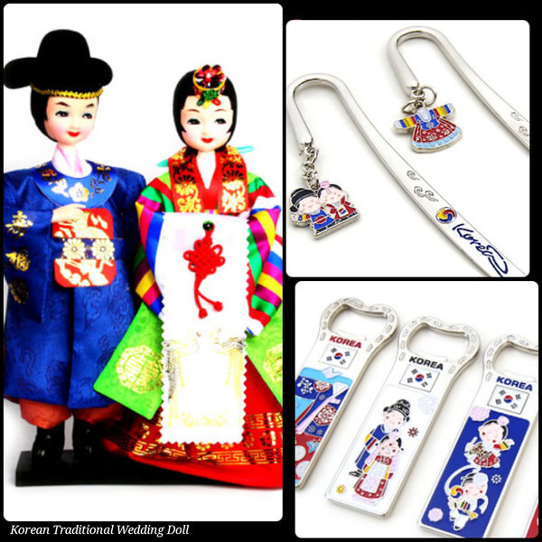 한국전통 신랑신부 웨딩 커플인형/한국관광외국인선물 상품이미지