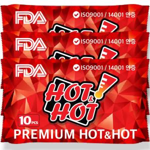 [핫앤핫]프리미엄 핫앤핫 핫팩 美FDA등록 군용 보온대/붙이는