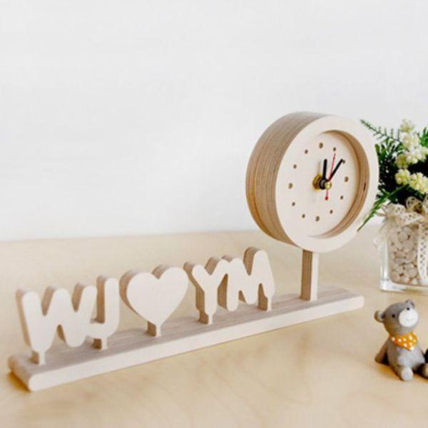 자작나무 이니셜 시계 땡글 상품이미지