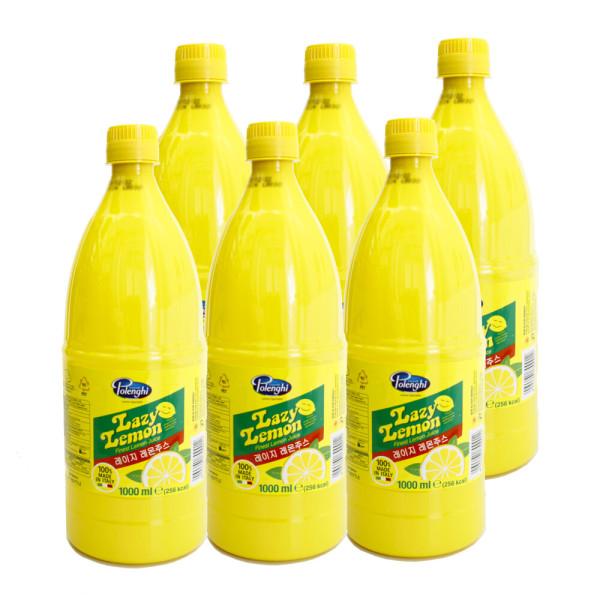 레이지레몬즙 1LX6개 / 레몬주스 레몬원액 레몬에이드 상품이미지