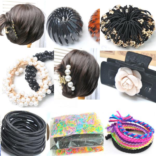 골드메달끈100개/머리끈/집게핀/헤어핀/대량머리끈 상품이미지