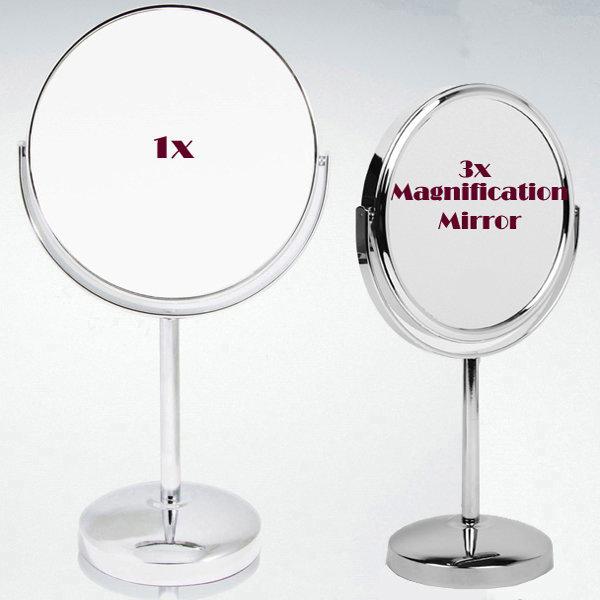 샤이니 양면 탁상거울(중/3배 확대경거울)/화장손거울 상품이미지