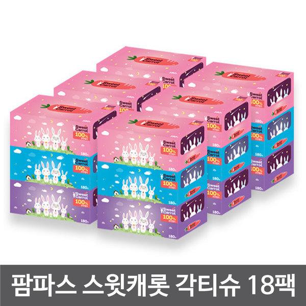 100% 천연펄프 각티슈 삼무각티슈 180매 24팩 상품이미지