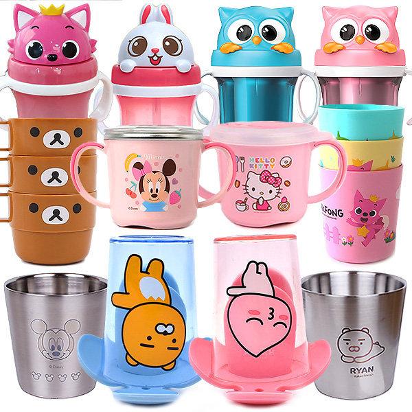 인기/유아 아동 수저 포크 에디슨 컵 물통 식기 상품이미지