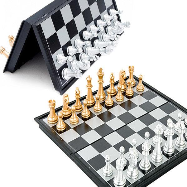 고급 접이식 체스-자석체스 판 보드게임 다트 바둑판 상품이미지