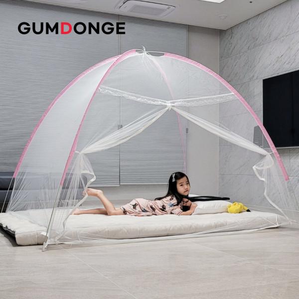 원터치 모기장 대형 캐노피 텐트 침대 사각 방충망 상품이미지