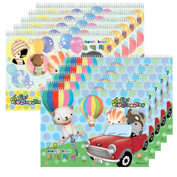 스케치북 20권 대용량스케치북 (20매)10권 상품이미지