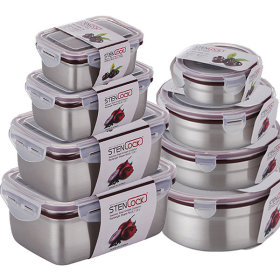 Made In Korea POSCO stainless steel 27 kinds side dish container/airtight container/kimchi container