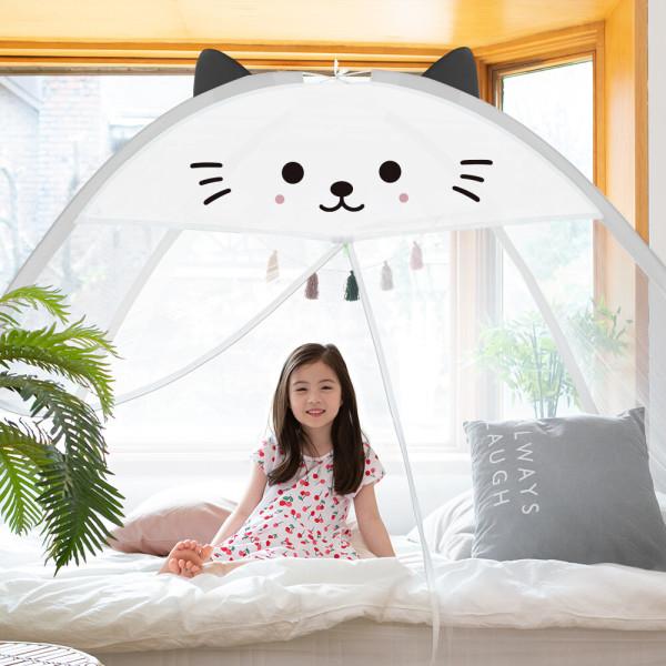 1초완성 원터치모기장 텐트 침대 사각 아기 대형 창문 상품이미지