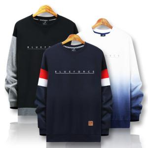 [블루포스]봄신상 맨투맨티/기모 빅사이즈 커플티셔츠 남자옷
