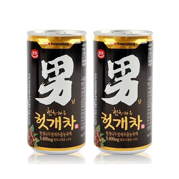 무료배송 광동 헛개차 2박스 (180ml x 60캔) 캔음료 상품이미지