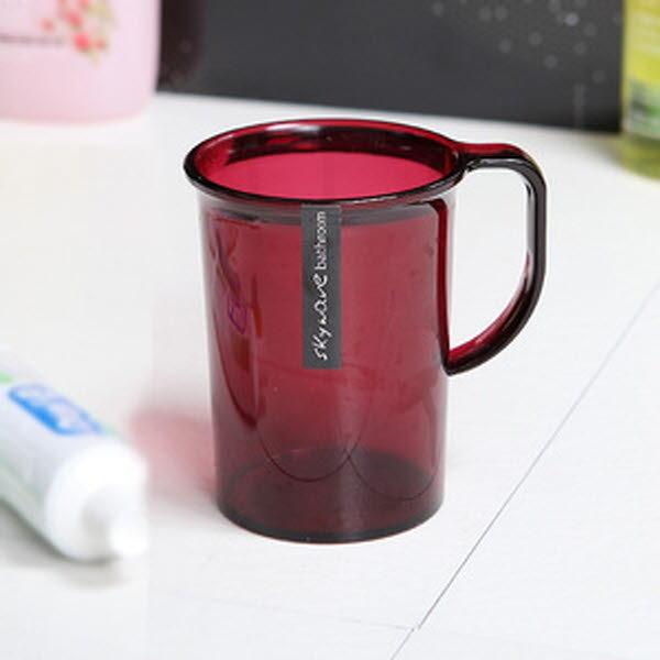 스카이 웨이브 손잡이 양치컵 - 와인 상품이미지