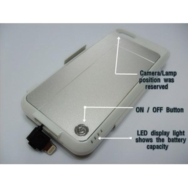 아이폰5 배터리케이스 보조배터리 파워팩 보조팩 2600mah 대용량 외장 배터리 케이스배터리 상품이미지