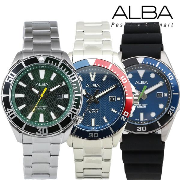 세이코 알바 메탈 밴드 크로노그라프 남성 손목시계 상품이미지