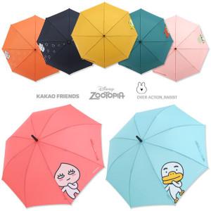 [디즈니]캐릭터 우산 - 미키 키티 카카오 3단우산 장우산 자동