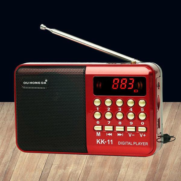 올인원 MP3플레이어+미니 라디오+휴대용 스피커 소형 상품이미지