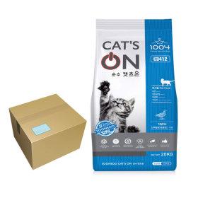 고양이사료20kg 캣츠온 대용량 길고양이 사료 길냥이