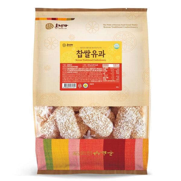 호정가 찹쌀유과(500g) / 창평한과 한국식품명인 21호 상품이미지