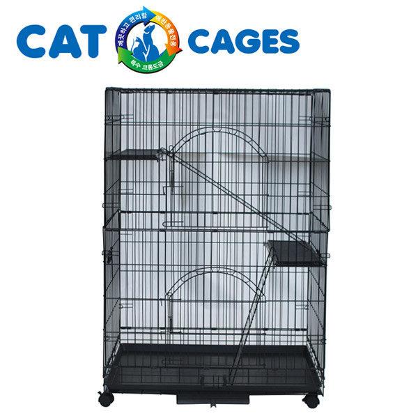 도그씨 브리더 블랙이단접이식 CP-3W-1 고양이철장 상품이미지