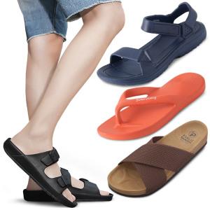 천연가죽 남자샌들 커플 슬리퍼 남성 쪼리 여름 신발
