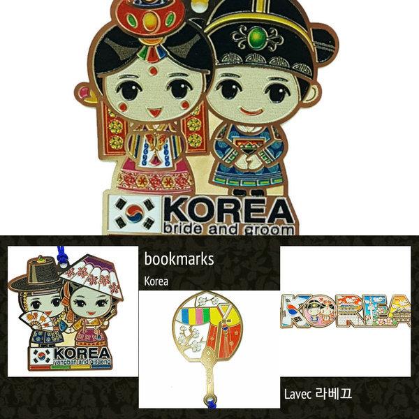 한국 부채 커플 책갈피(10개)/관광기념품 외국인선물 상품이미지