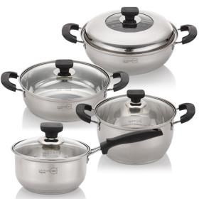 정품 3중바닥 스텐냄비/냄비 세트/인덕션겸용