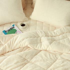 Warm flannel microfiber pad set / topper set