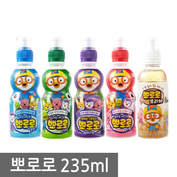 뽀로로음료수 234mlX24페트/보리/밀크/딸기/블루베리/ 상품이미지