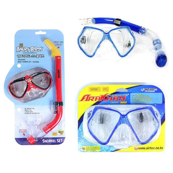 A4-1/스노클세트/헬로키티/앵그리/물안경/수경/튜브 상품이미지