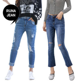 [RUNAJEAN] Women`s pants collection / skinny fit / bootcut / straight line / destroyed / frayed /