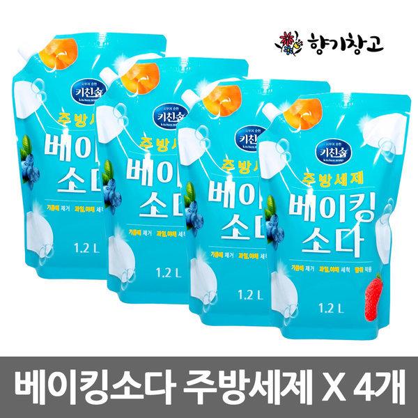 무궁화 베이킹소다 주방세제 1.2L X 4개/트리오/순샘 상품이미지