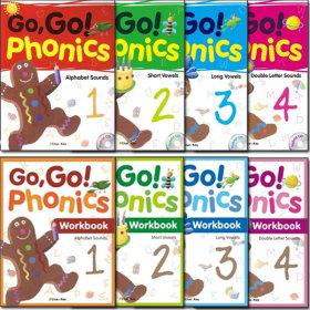 GO GO Phonics set 1.2.3.4단계(SB+WB+Hybrid CD)/고고파닉스