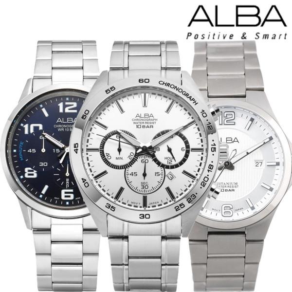 세이코 알바 크로노그래프 컬렉션 야광기능 손목시계 상품이미지